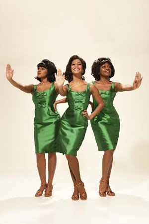 Tanya Nicole Edwards, Lucy St. Louis, Cherelle Williams as The Supremes in Motown The Musical.