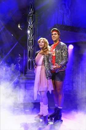 XANADU - Carly Anderson as 'Kira' and Samuel Edwards as 'Sonny'.
