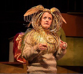 Ceris Hine (The Golden Dog) in The Tinderbox at Charing Cross Theatre