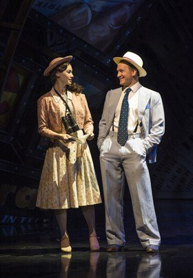Siubhan Harrison (Sarah Brown) and Jamie Parker (Sky Masterson) in Guys and Dolls