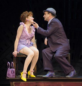 Sophie Thompson (Miss Adelaide) and David Haig (Nathan Detroit) in Guys and Dolls