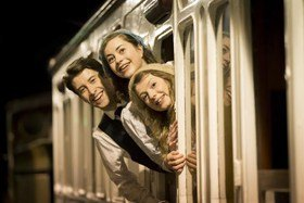 Matt Jessup as Peter, Sophie Ablett as Bobbie and Beth Lilly as Phyllis in The Railway Children.
