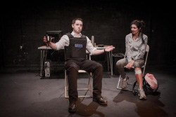Simon James Baillie as Denny, Shanaya Rafoot as Kat in 'Stateless' by Subika Anwar.