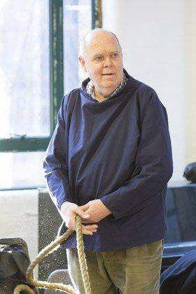 Richard Cordery in rehearsals for Waiting For Godot
