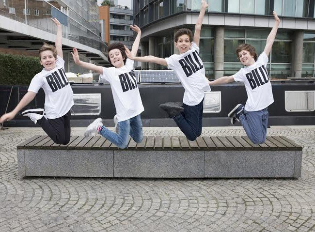 BILLY ELLIOT UK AND IRELAND TOUR - The Billys - Lewis Smallman, Matthew Lyons, Adam Abbou and Haydn May L-R