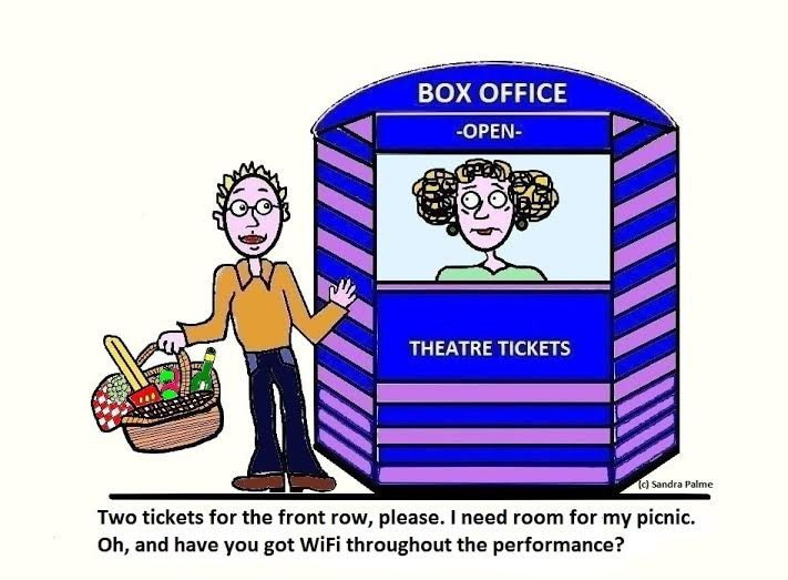 Theatre Etiquette Cartoon from LondonTheatre1