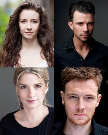 Clockwise from top left - Emilie Fleming, Neil McDermott, David Thaxton, Caroline Sheen