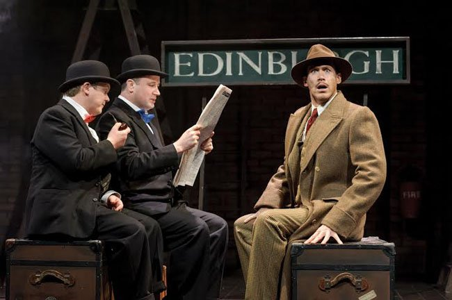 The 39 Steps tour 2016 - Rob Witcomb as Man 1, Andrew Hodges as Man 2 & Richard Ede as Hannay