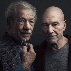 Ian McKellen and Patrick Stewart. Photo credit Luke Fontana