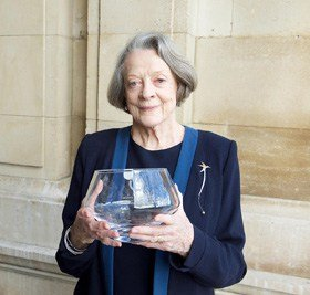 Dame Maggie Smith receives The Critics' Circle Award 2015 For Services to the Arts presented at the National Liberal Club, London. Photograph by Elliott Franks
