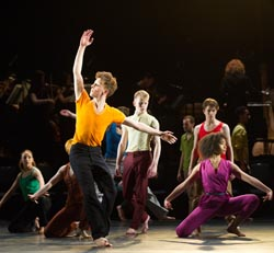 "National Youth Dance Company presents the premiere of ""In-Nocentes"" at Sadler's Wells. Choreographed by Michael Keegan-Dolan, Artistic Director for NYDC for 2015 - 2016, with lighting design by Peter Harrison, set and costume design by Laura Hopkins. NYDC is touring the work from 26 June – 23 July 2016. The dancers are: Monique Ademilola, Jasmine Bayes, Tomas Brennan, Jamie Buchanan, Arthur Clayton, Isis Clunie, Olivia Doyle, Lucia Fortune-Ely, Christian Griffin, Bar Groisman, Rachael Harrison, Alex Henderson, Amie Hibbert, Christopher Hicks, Tommy Hodgkins, Noga Inspector, Taitlyn Jaiyeola, Kaylee Jaiyeola, Ethan Joseph, Niamh Keeling, Rose Lewis, Blue Makwana, Dominic McAinsh, Iona McGuire, Kennedy Muntanga, Daniel Nattrass, Jessica Nixon, Jasmine Norton, Ethan Nott, Chris Pilbeam, David Prempeh, Jackson Shallcross-Platt, Kia Skilbeck, Ben Todd-Jones, Tre Usoro-Williams, Chad Wakefield, Molly Walker, John-William Watson, George Williams, Hallam Wood."