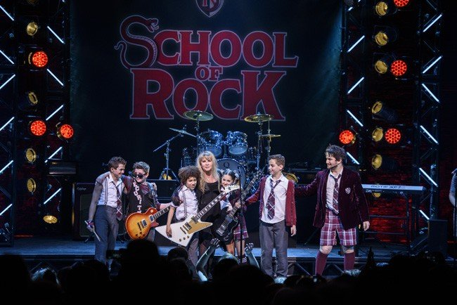 """Grammy Award-Winner Stevie Nicks Performs with the Kid Band at School of Rock - The Musical on Broadway"""