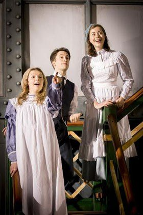 Beth Lilly, Matt Jessup and Sophie Ablett in The Railway Children.