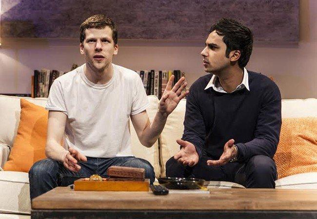 The Spoils - Off Broadway Production Images - Jesse Eisenberg (Ben) & Kunal Nayyar (Kalyan)