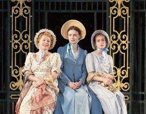 Mrs Bennet, Elizabeth and Mary Bennet. Pride and Prejudice 2013 Cast