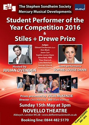 Stephen Sondheim Society Student Performer of the Year
