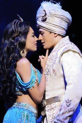 Aladdin Prince Edward Theatre Jade Ewen (Jasmine) and Dean John-Wilson (Aladdin)