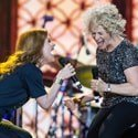 Cast of Beautiful The Carole King Musical join Carole King on stage