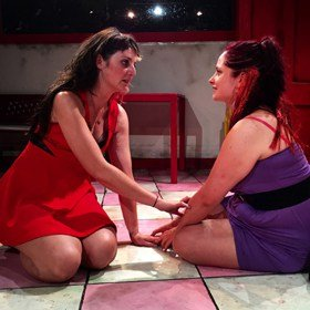 Ffion Jones and Sophie Hughes in Ugly Lovely (c) Velvet Trumpet