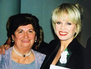 Jill Tookey and Joanna Lumley