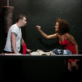 Screwed, Theatre503, Stephen Myott-Meadows and Eloise Joseph ©Sophie Mutevelian