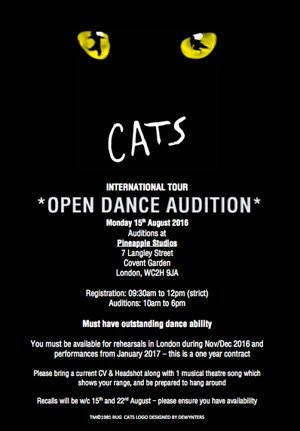 CATS-auditions London
