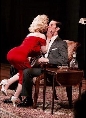 Erin Gavin as Marilyn and Jeff Bratz as Frank Sinatra