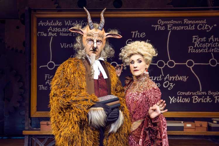 Martin Ball (Doctor Dillamond) & Anita Dobson (Madame Morrible) Photo By Matt Crockett