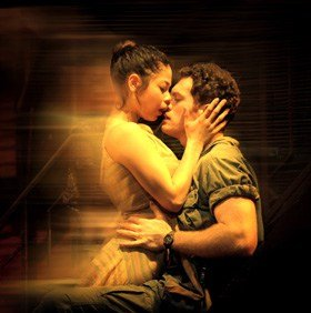Eva Noblezada as Kim and Alistair Brammer as Chris in 'Miss Saigon The 25th Anniversary Performance'