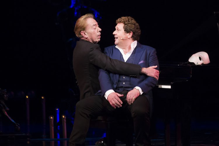 Andrew Lloyd Webber (Music) and Michael Ball (Raoul) during the curtain call - Photo by Dan Wooller