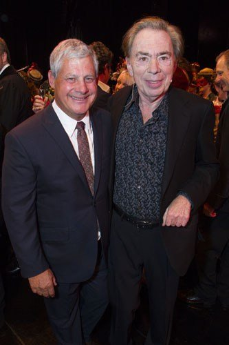 Cameron Mackintosh (Producer) and Andrew Lloyd Webber (Music) backstage - Photo by Dan Wooller