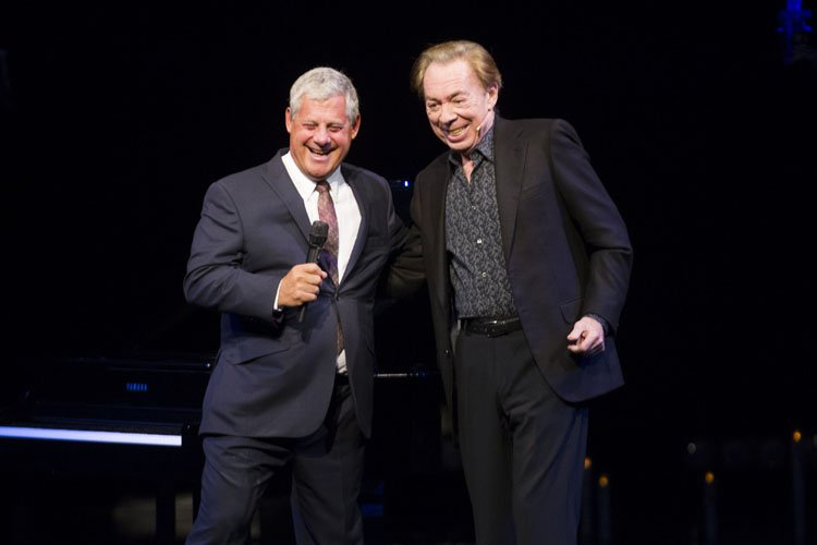 Cameron Mackintosh (Producer) and Andrew Lloyd Webber (Music) during the curtain call - Photo by Dan Wooller