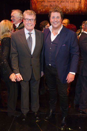 Michael Crawford and Michael Ball (Raoul) backstage - Photo by Dan Wooller