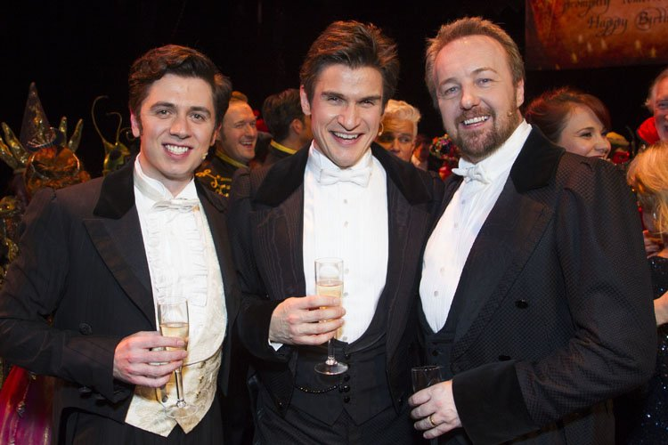 Nadim Naaman (Raoul), Gardar Thor Cortes (The Phantom of the Opera) and John Owen-Jones (The Phantom of the Opera) backstage - Photo by Dan Wooller