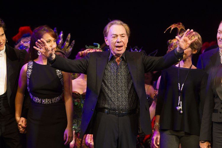 Andrew Lloyd Webber (Music) during the curtain call - Photo by Dan Wooller