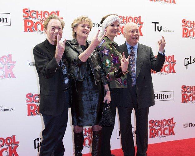 Andrew Lloyd Webber, Madeleine Lloyd Webber, Emma Joy Kitchener and Julian Fellowes. Photo Craig Sugden