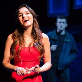 Samantha Barks as Cathy and Jonathan Bailey as Jamie in THE LAST FIVE YEARS at St James Theatre.