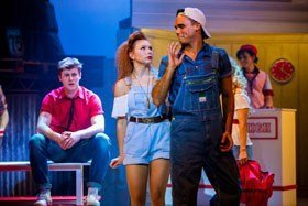 Gareth Gates as Willard in Footloose.