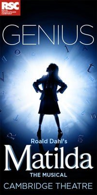 Matilda The Musical London Cambridge Theatre Poster