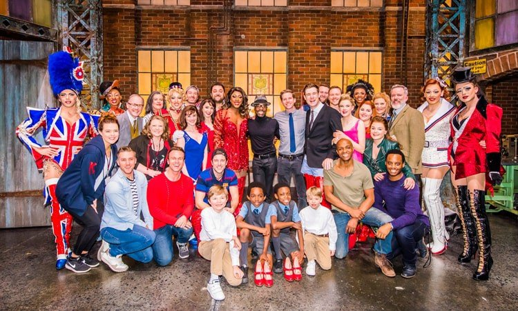 Billy Porter and Stark Sands with the West End Kinky Boots Company