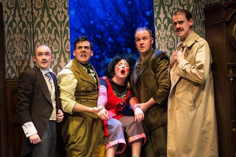 Company - The Play That Goes Wrong. Photo by Helen Murray