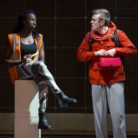 Danielle Kassaraté (information) Joseph Ayre (Christopher) The Curious Incident of the Dog in the Night-Time, Photo by Alex Rumford