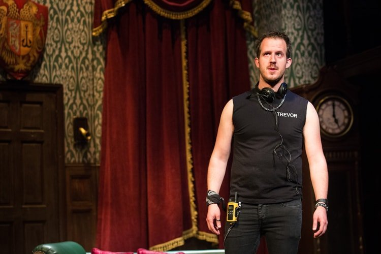 Fred Gray - The Play That Goes Wrong. Photo by Helen Murray