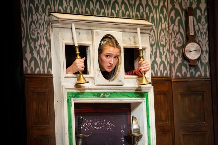 Joanne Ferguson - The Play That Goes Wrong. Photo by Helen Murray