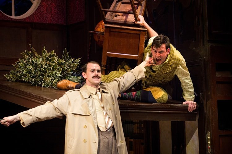 (L-R) Hayden Wood and Adam Byron - The Play That Goes Wrong. Photo by Helen Murray