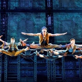 Disney's Newsies The Broadway Musical - The Newsboys_ Photo by Disney Theatrical Productions