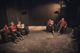 The cast of The Listening Room - Photo Credit Nomad Creative Studio