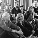 Central l-r Nicholas Lyndhurst, Alfie Boe, Katherine Jenkinsn & Brenda Edwards with members of the cast - Photo by Craig Sugden