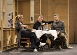 Denise Gough, Nathan Lane and Russell Tovey rehearse Angels in America c Helen Maybanks