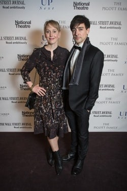 Hattie Morahan and Blake Ritson arriving at the National Theatre's 'Up Next' Gala photo Cameron Slater Up Next